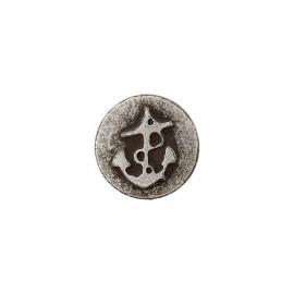 Bouton aspect Métal Ancre 9 mm - rond