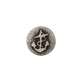 10 mm Metal Button - Silver Little Anchor