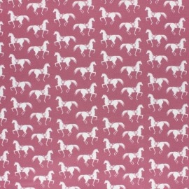 Tissu coton Camelot Fabrics Best in Show - Riding Club Maroon x 10cm