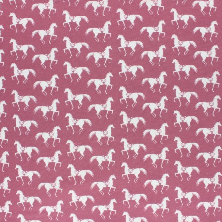 Cotton Camelot Fabrics Best in Show - Riding Club Marroon x 10cm