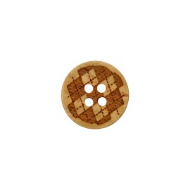 Wooden button - Lorelei Natural