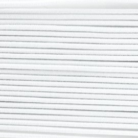 Fil élastique à chapeau 1.5mm blanc