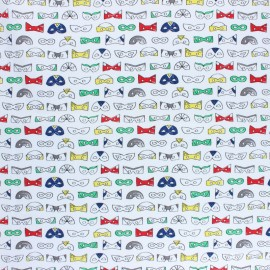 Tissu coton Camelot Fabrics Heroes - Masks x 10cm