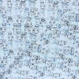 Tissu jersey AGF Pine Lullaby - Snuggery Breeze x 10cm