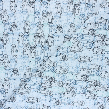 AGF Jersey fabric - Snuggery Breeze Pine Lullaby x 10cm