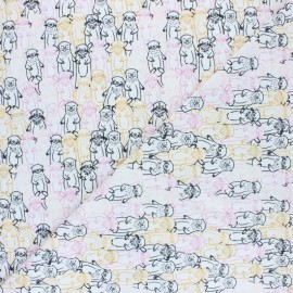 AGF Jersey fabric - Snuggery Warmth Pine Lullaby x 10cm