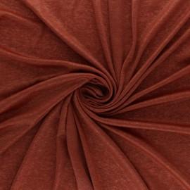 Lurex Jersey Fabric - Red brick Glitter x 10cm