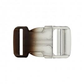 Boucle Sac à dos 30mm - transparent/bleu