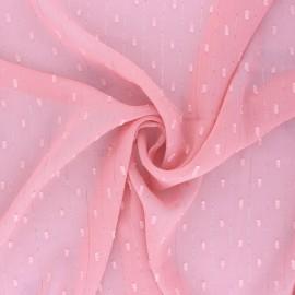 Lurex plumetis Muslin fabric - white x 50cm