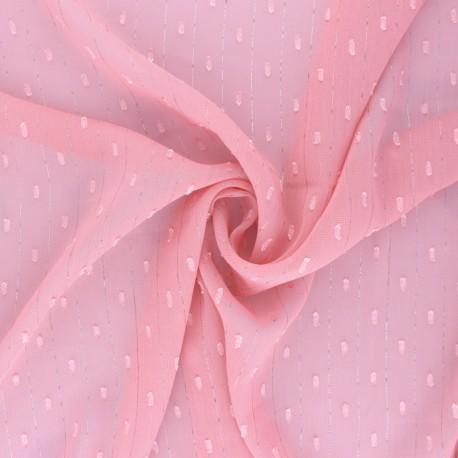 Tissu Mousseline lurex plumetis - blanc x 50cm