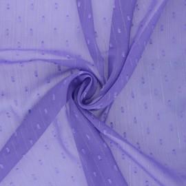 Tissu Mousseline lurex plumetis - Lavande x 50cm