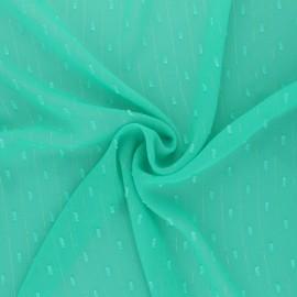 Tissu Mousseline lurex plumetis - vert d'eau x 50cm