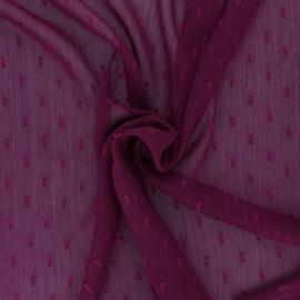 Tissu Mousseline lurex plumetis - violet x 50cm
