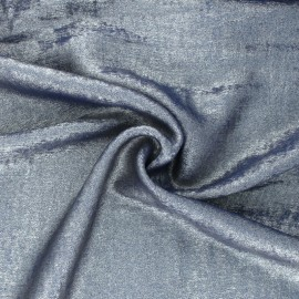 Metallic Polyester Fabric - blue Vicky x 10cm