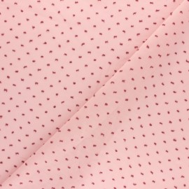 ♥ Coupon 40 cm X 150 cm ♥  Tissu voile de coton Plumetis Camila - Rose