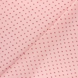Tissu voile de coton Plumetis Camila - Rose x 10cm