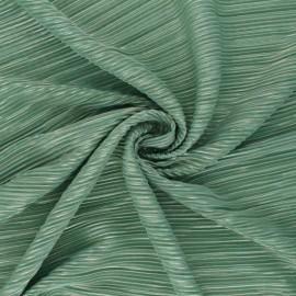 Tissu polyester plissé Lurex Harmonie - vert x 10cm