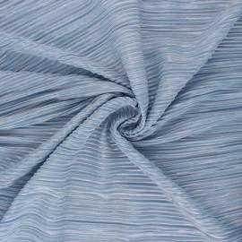 ♥ Coupon 250 cm X 145 cm ♥  Pleated polyester fabric - Orange Harmonie