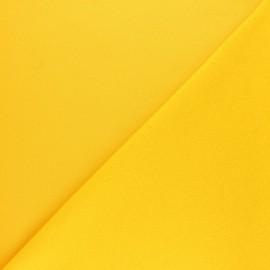 Tissu sweat molletonné uni Noa - Jaune mimosa x 10cm