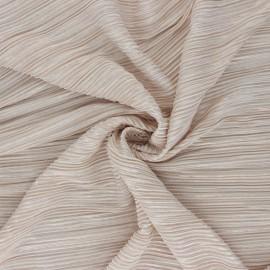 Tissu polyester plissé Lurex Harmonie - beige x 10cm
