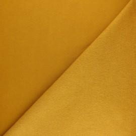 Plain sweatshirt fabric - Yellow mustard Noa x 10cm