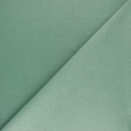 Tissu sweat molletonné uni Noa - Eucalyptus x 10cm