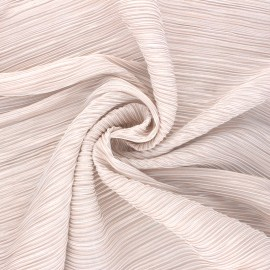 Lurex Pleated polyester fabric - light pink Harmonie x 10cm