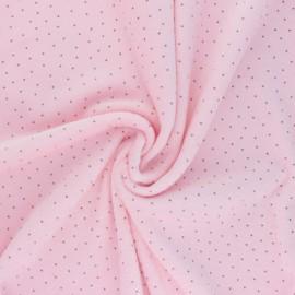Nicky Fleece fabric Doto - pink x 10cm
