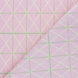 Tissu toile de coton Rico Design - graphique - rose x 10cm
