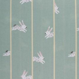 Tissu toile de coton Rico Design - lapin - vert x 10cm