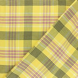 Tissu viscose Victoria - jaune x 10cm