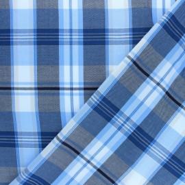 Patterned Viscose fabric - blue Edwige x 10cm