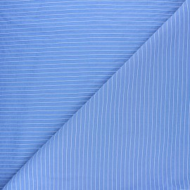 Tissu viscose rayée Robyn - bleu x 10cm
