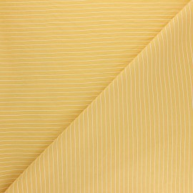 Striped Viscose fabric - yellow mustard Robyn x 10cm