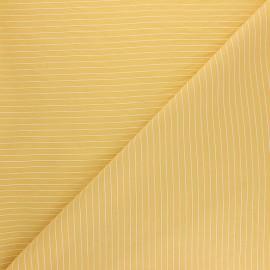 Tissu viscose rayée Robyn - jaune moutarde x 10cm