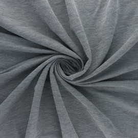 Tissu jersey piqué spécial Polo Galopin - gris chiné x 10cm