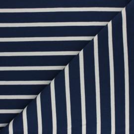 Tissu Sweat léger rayé Cabourg - écru x 10cm