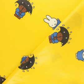 Coated cotton fabric - yellow Miffy x 10cm