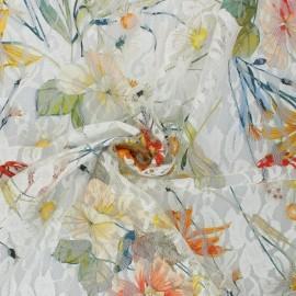 Flowery Elastane Lace Fabric - raw Denise x 10cm