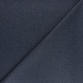 Plain gabardine bamboo fabric - denim x 10 cm