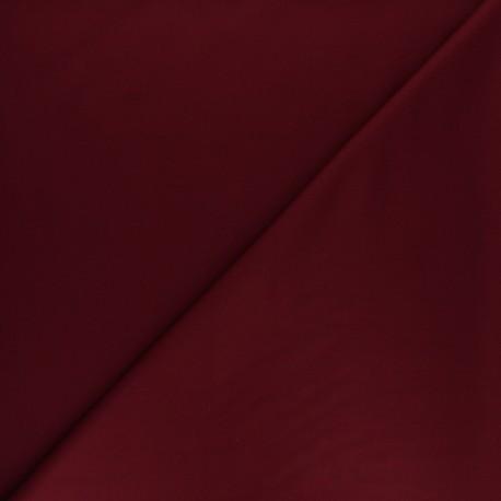 Tissu gabardine bambou uni - bordeaux x 10 cm