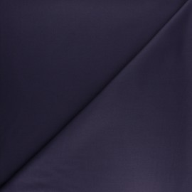 Plain gabardine bamboo fabric - purple ink x 10 cm