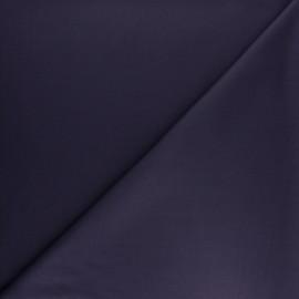 Tissu gabardine bambou uni - encre violette x 10 cm