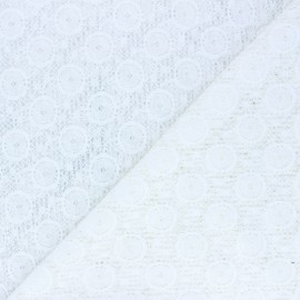 Lace Fabric - white raw x 10cm