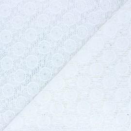 Tissu Dentelle Romane - écru x 10cm
