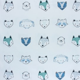 AGF Cotton fabric - Furries Cool Pine Lullaby x 10cm