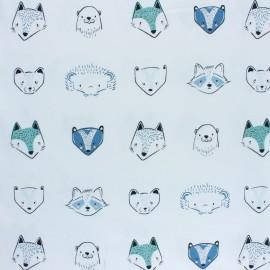 Tissu coton AGF Pine Lullaby - Furries Cool x 10cm