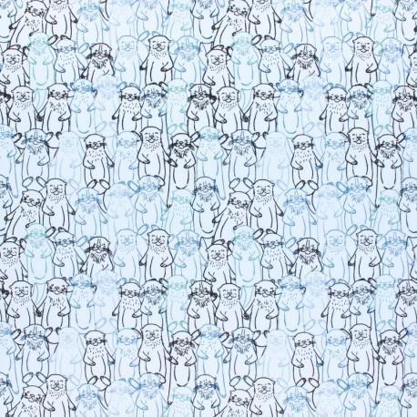 Tissu coton AGF Pine Lullaby - Snuggery Breeze x 10cm