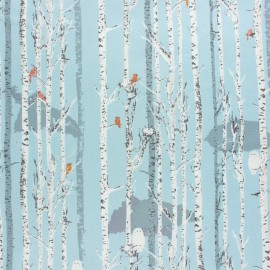 Tissu coton AGF Earthen - Ice Forestry x 10cm