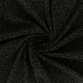 Viscose Fabric - khaki green Military leo x 10cm